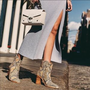 Free People Barclays Snakeskin Western Boot 10 NWT